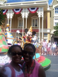 Mickey photo bombed my daughter and me!  Love it! - Disney World - 2013