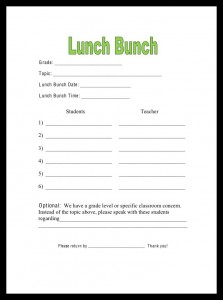 Lunch Bunch Anyone? | Savvy School Counselor