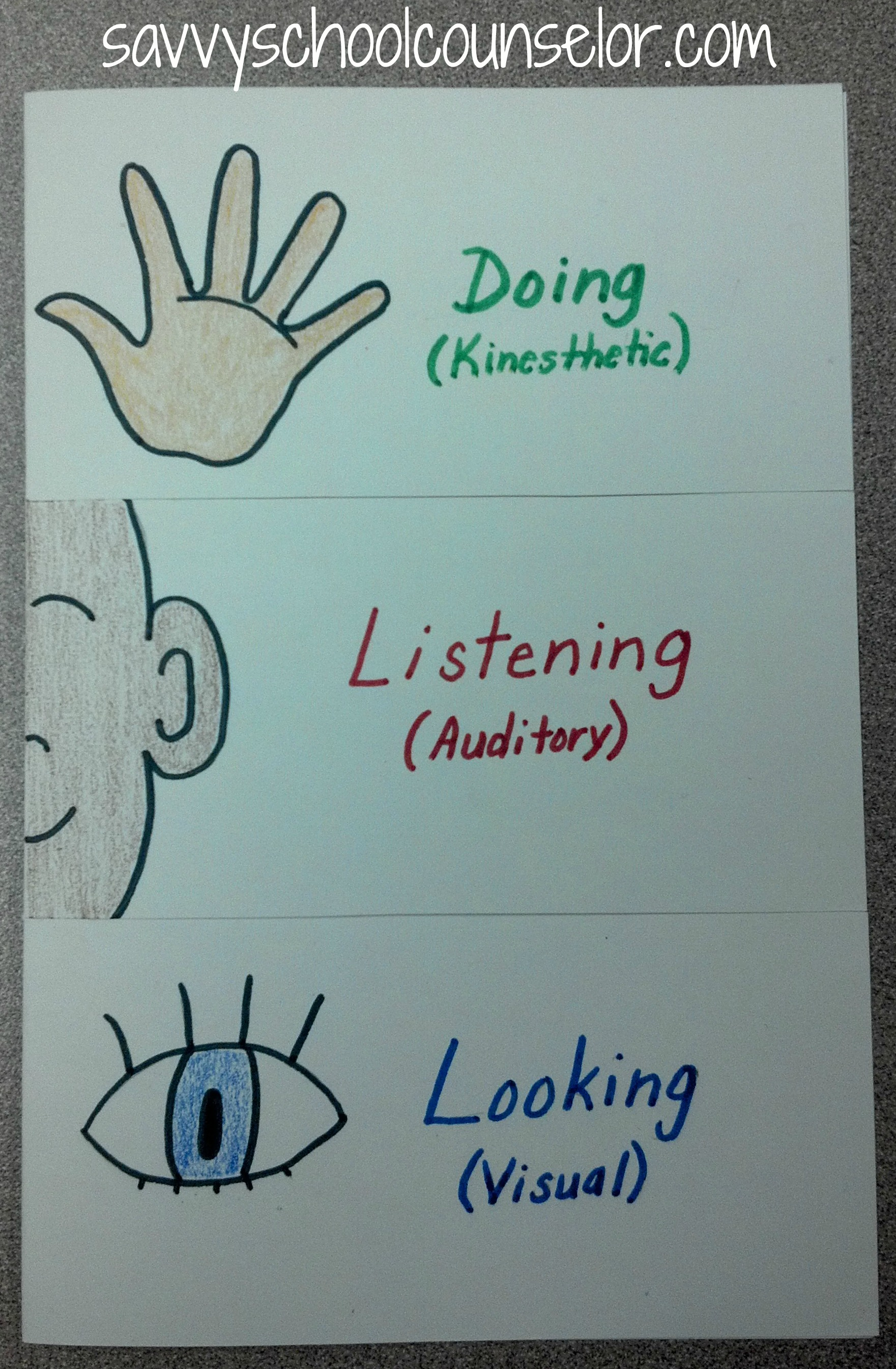 The 3 Learning Styles | Savvy School Counselor