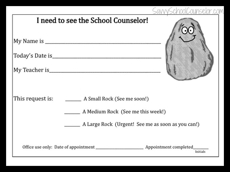 Student Self-Referral Form | Savvy School Counselor