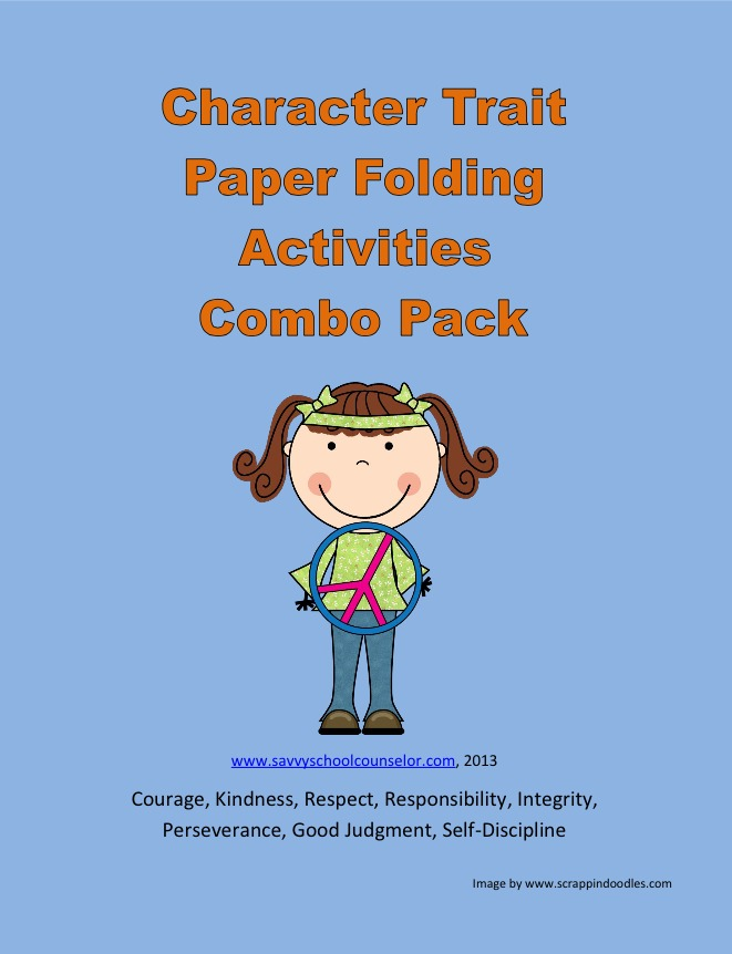 Character Trait Paper Folding Activities COMBO PACK