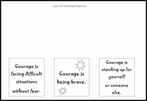 Courage Paper Folding- Freebie