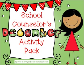School Counselor's December Activity Pack on TpT- $10.00