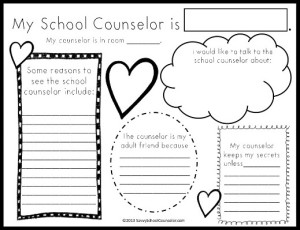 FREE TpT Download- My School Counselor Activity