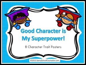Superpower Character Trait Posters- TpT