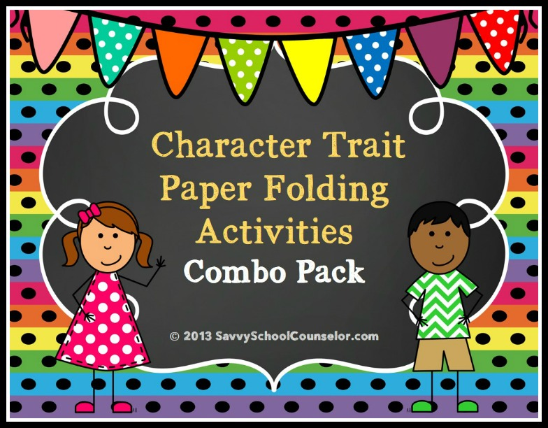 Character Trait Paper Folding Activities- $4.00 at TpT