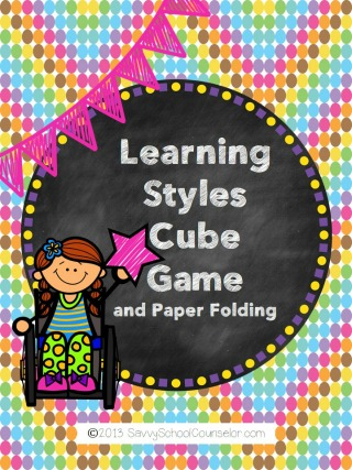 Learning Styles Cube Game- $4.00 at TpT