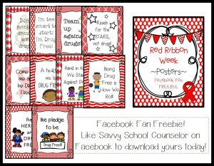 Facebook Fan Freebie- Red Ribbon Week Posters