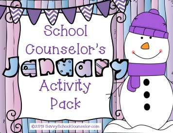 School Counselor's January Activity Pack on TpT- $10.00
