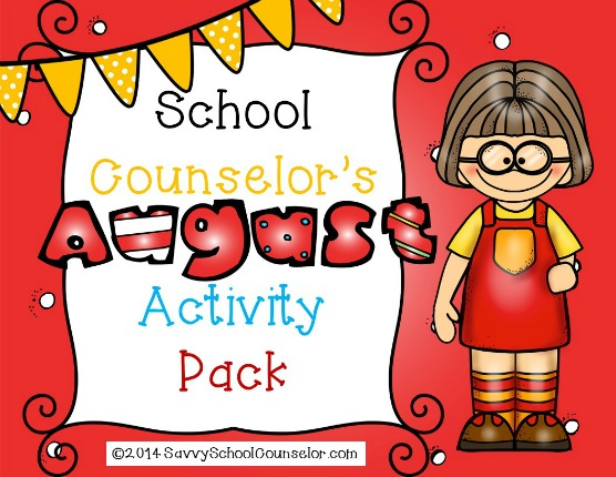 School Counselor's August Activity Pack- $10.00