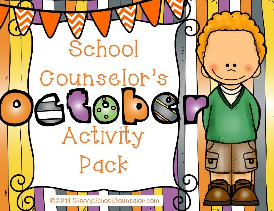 School Counselor's October Activity Pack- $10.00