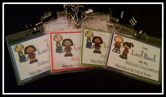 Facebook Fan Freebie - Lunch Bunch Tags - Inspired by Ms. Sepp's Counselor Corner