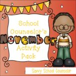 School Counselor's November Activity Pack